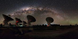 The Milky Way above CSIRO's Australia Telescope Compact Array
