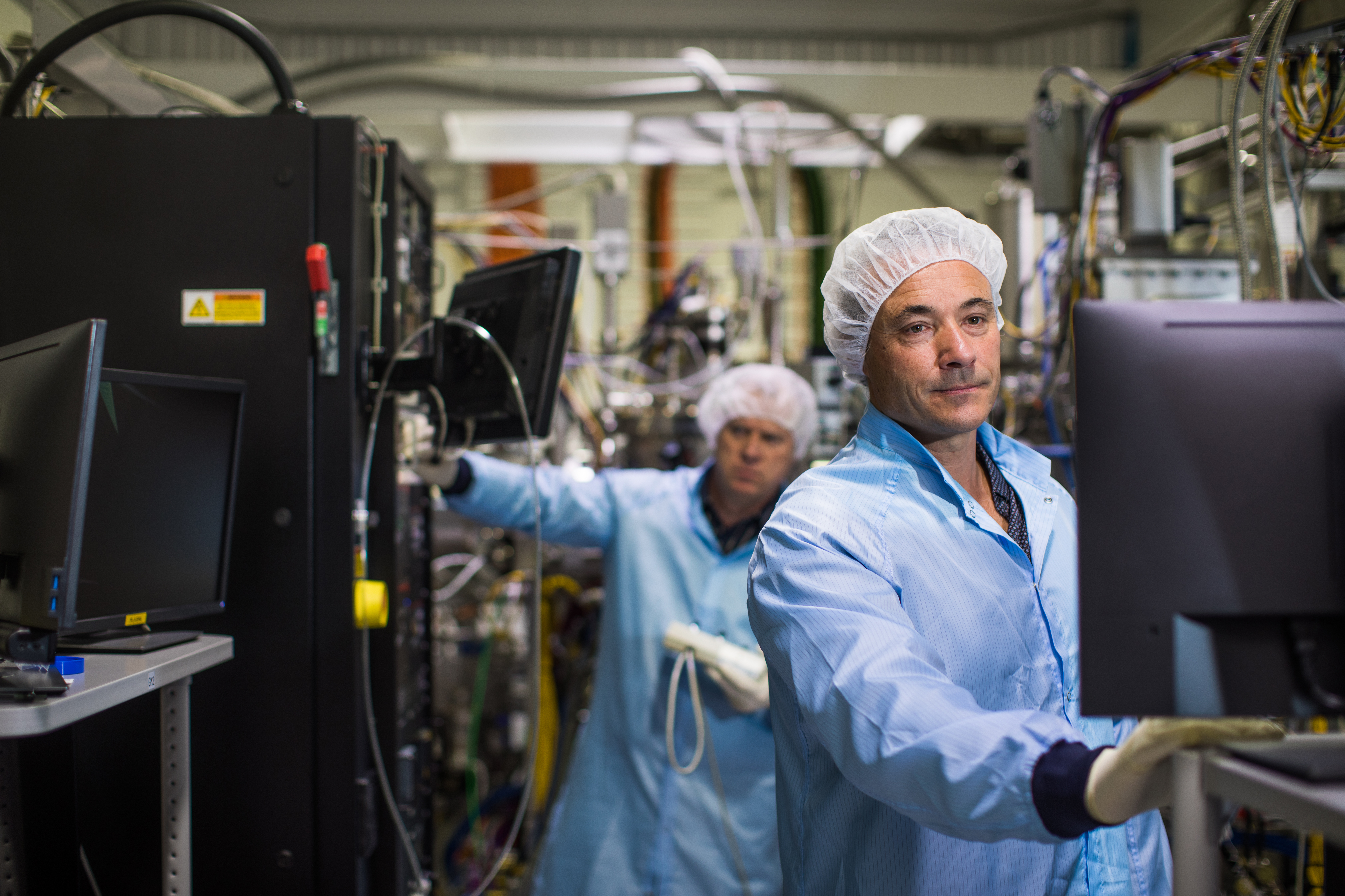 Silanna's Chief Scientist, Dr Petar Atanackovic in the picFAB facility at the University of Adelaide.