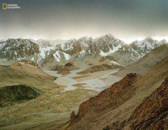 View over the Shimshal Pamir region of Pakistan.