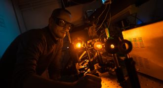 Macquarie University researchers have developed an improved laser system that will help large optical telescopes to gather more accurate data. Large-diameter ground-based optical telescopes now routinely use laser-beam generated artificial guide stars, created in the higher levels of the atmosphere. These artificial stars allow users to correct atmospheric aberrations of light passing to and from space, using adaptive optics. They are crucial for high fidelity transmission of data for applications in both optical free-space and ground to earth communications, in space debris imaging and tracking, and for astronomy.