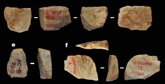 Selected artefacts found in situ. Credit Zhu et al