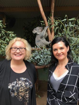 Professor Katherine Belov and Dr Rebecca Johnston