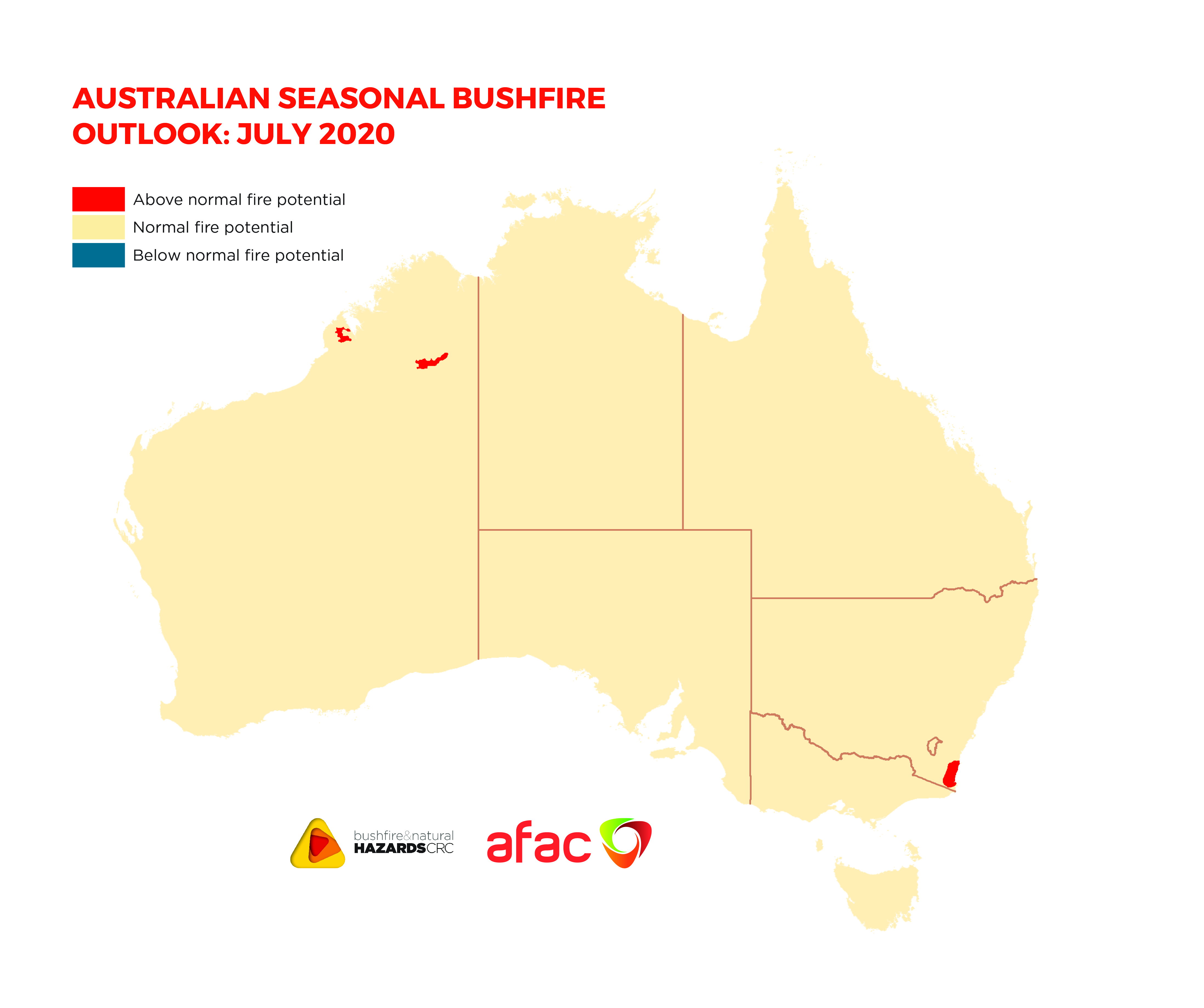 Australian Seasonal Bushfire Outlook: July 2020