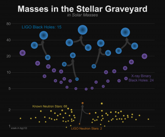 Masses of known black holes and known neutron stars