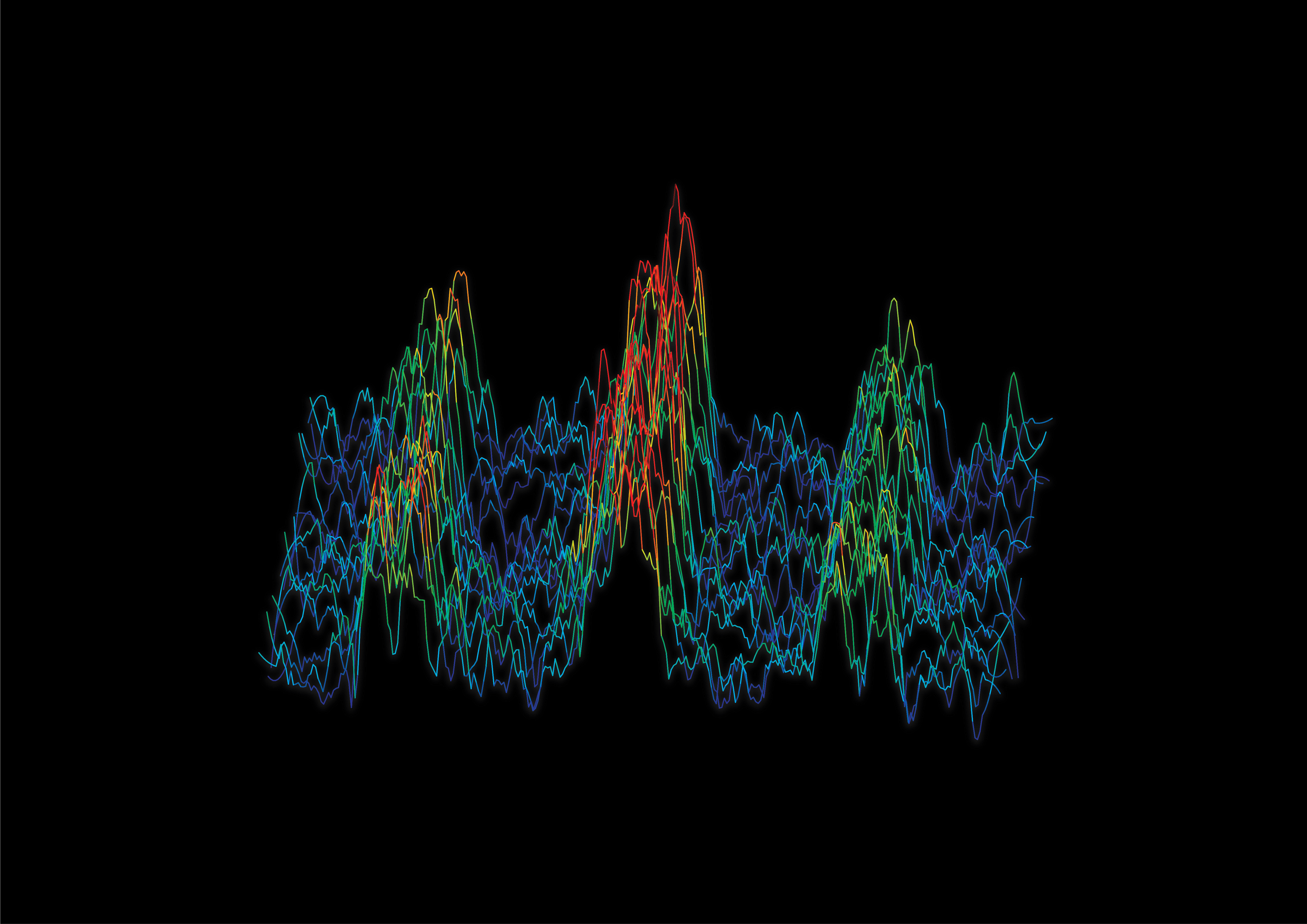 The frequency spectrum of an engineered molecule. The three peaks represent three different configurations of spins within the atomic nuclei, and the distance between the peaks depends on the exact distance between atoms forming the molecule. Photo: Dr Sam Hile