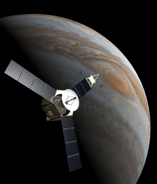 Juno and Jupiter... NASA image but please use another one as discussed in the email. Thanks, Will
