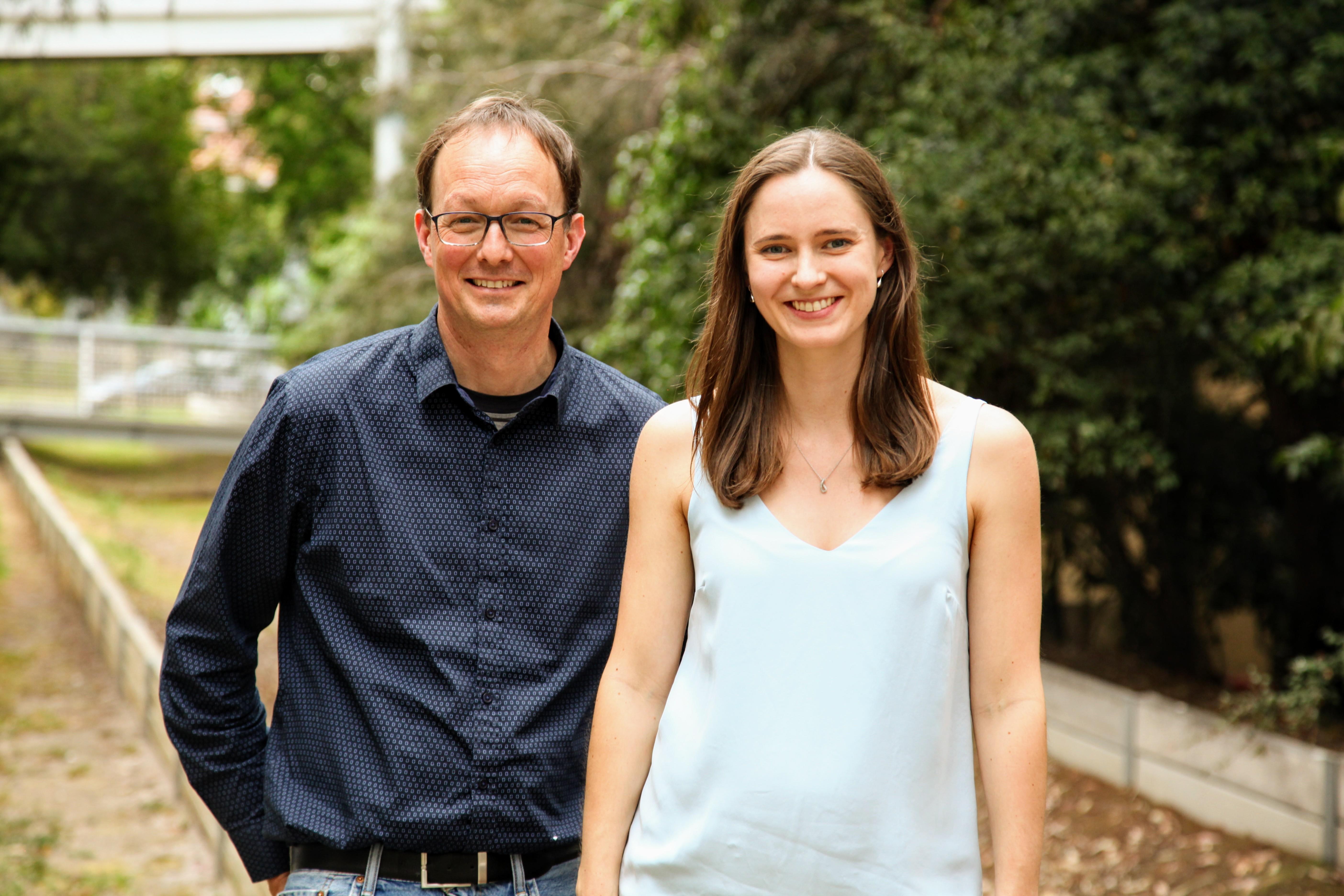 Dr Patrick Western and Dr Jessica Stringer
