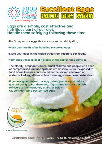 Excellent eggs - handle them safely image