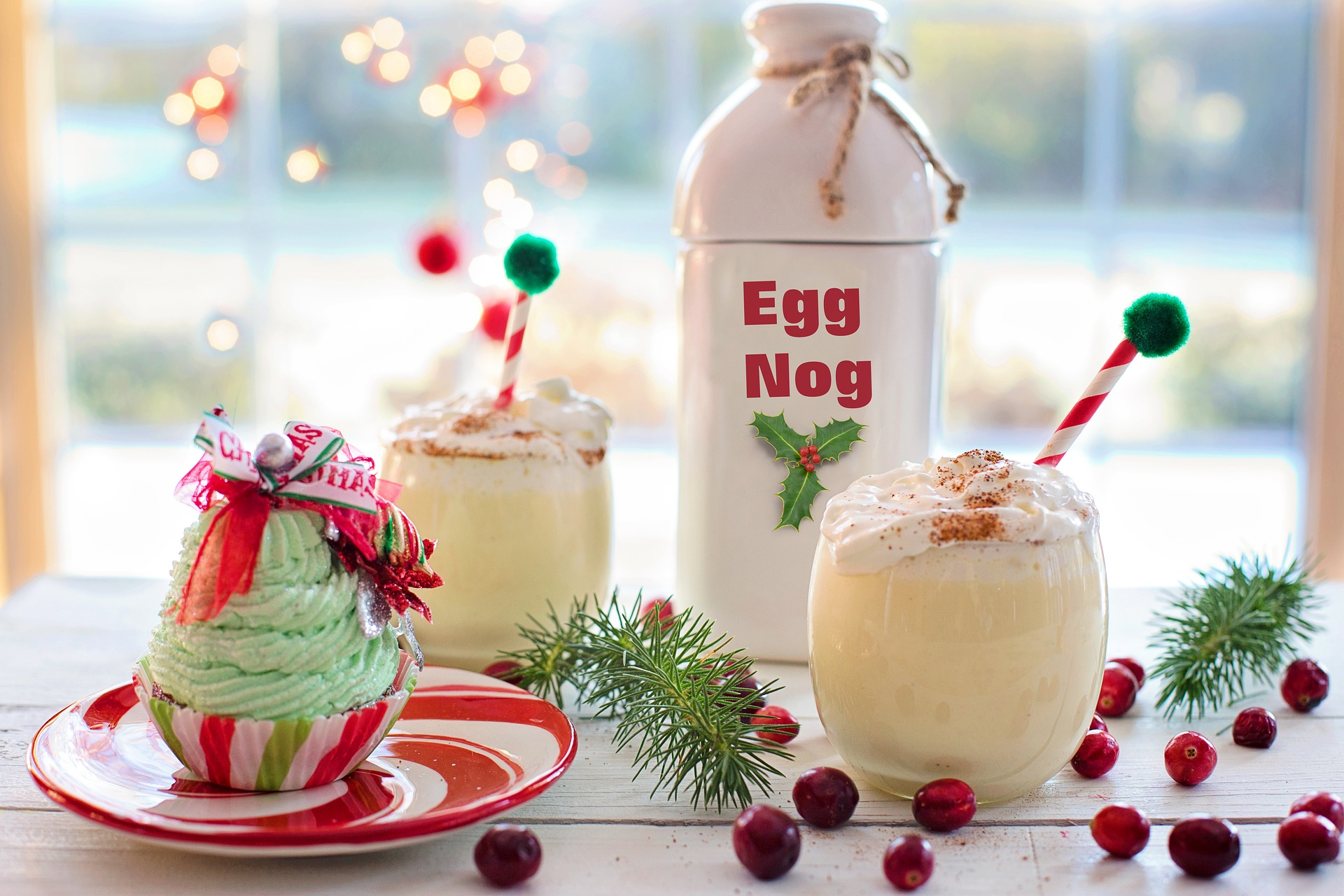 Raw egg dishes like egg nog are a food poisoning risk
