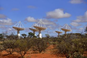 Dishes at the core of CSIRO's ASKAP telescope
