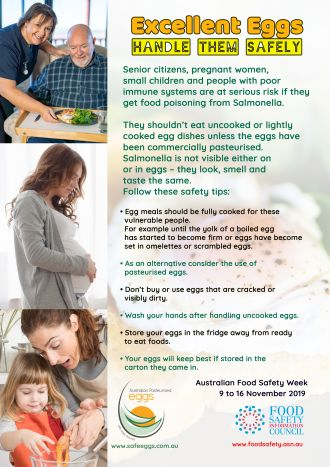 Excellent eggs - handle them safely vulnerable people advice image