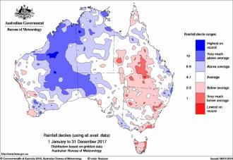 Australian rainfall map 2017