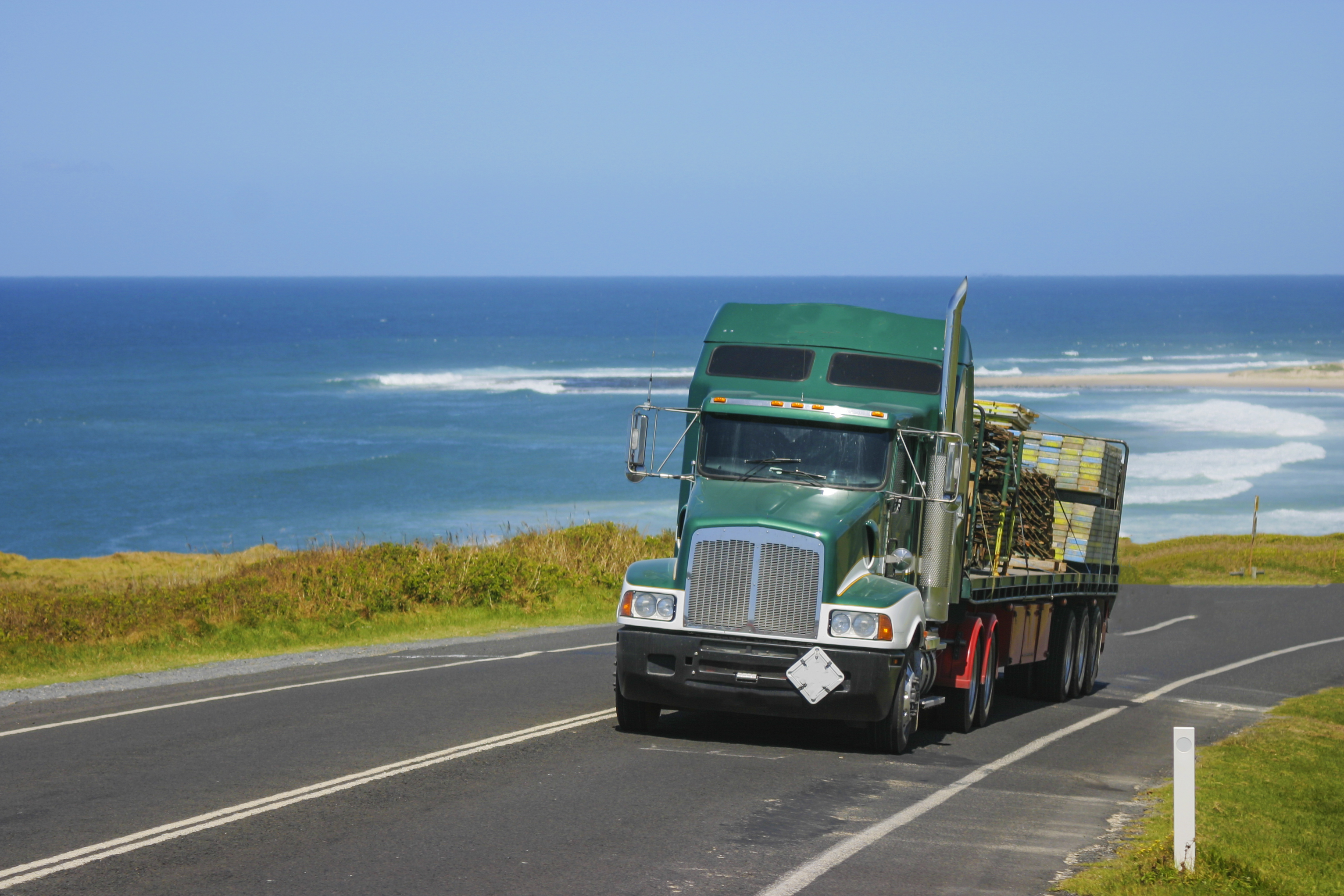A truckie on the road in Australia