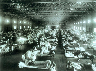 The deaths linked to the COVID-19 pandemic in New York are on par with the peak death rate seen during the 1918 Influenza pandemic, say US researchers.During the peak of the 1918 H1N1 influenza outbreak in New York City there were around287.17 deaths per 100 000 person-months, compared to202.08 deaths per 100 000 person-months during the first few months of the COVID-19 pandemic.However the 1918 flu pandemic was also starting from a higher baseline and prior the this current pandemic our starting death rate was much lower - thanks in part to modern medicine - which means the relative increase in the deaths isactually much greater for the COVID-19 pandemic than during the peak of the 1918 H1N1 influenza pandemic.