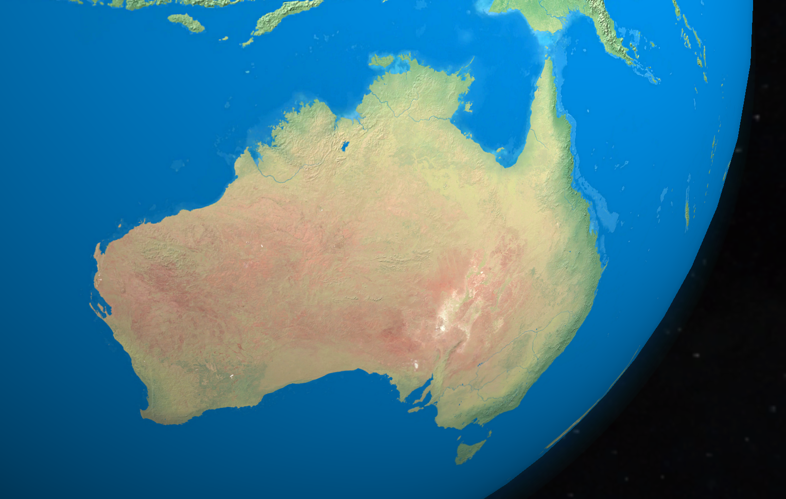 Australia_space_view By Globe Master 3D - CC BY 3.0