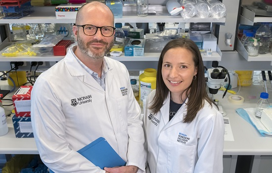Monash BDI researchers Professor Ben Kile and Dr Kate McArthur (Photo credit: Steve Morton)
