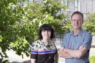 Professor Tim Bedding and Isabel Colman