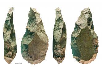 Acheulean axe heads
