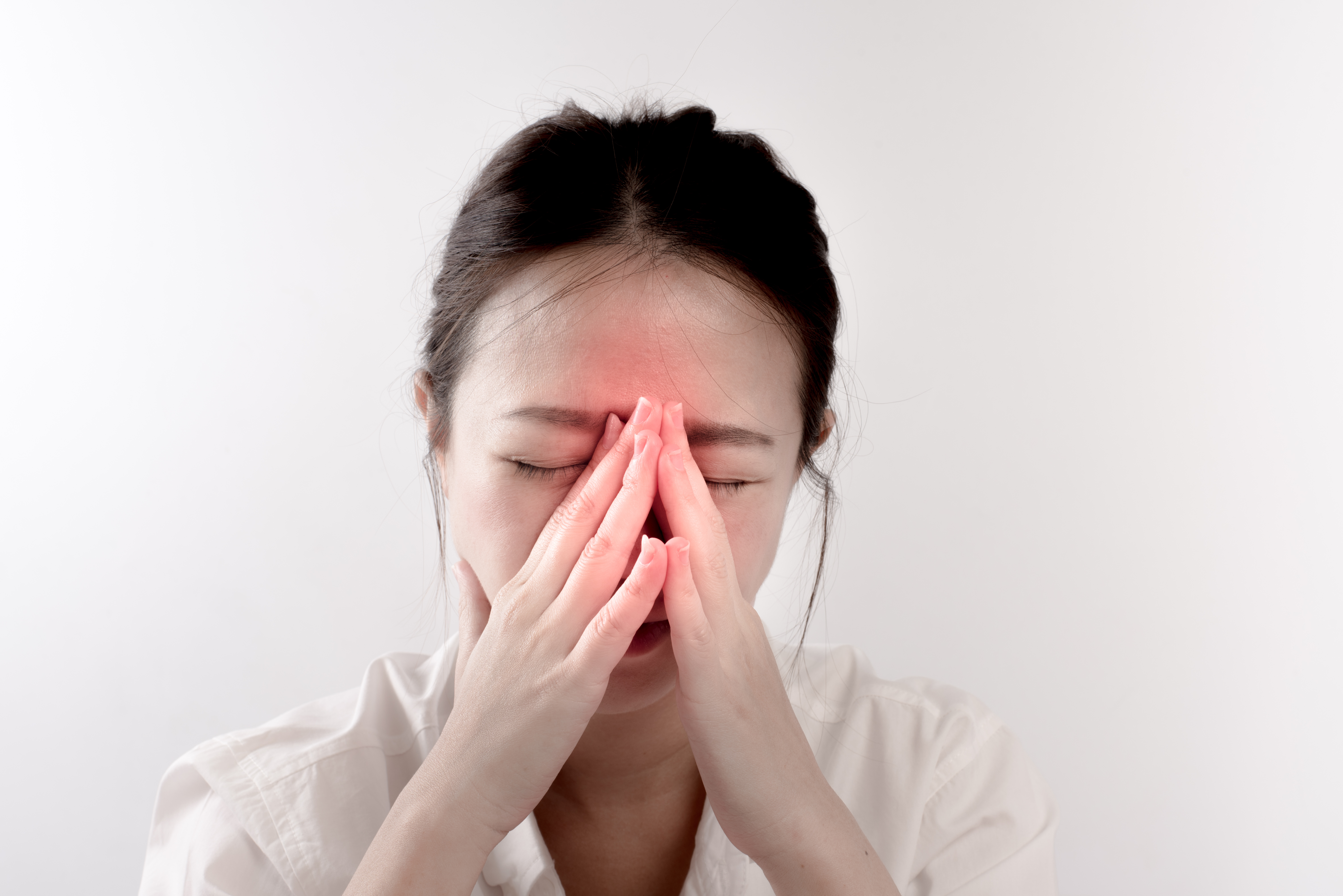 Shutterstock/Chronic Rhinosinusitis can cause nasal discharge, severe facial pain and  a reduction in the sense of smell.