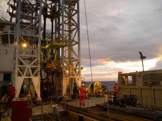 Drill rig on the Great Ship Maya