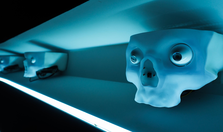 Area V5 installation by machine artist Louis-Phillipe Demers