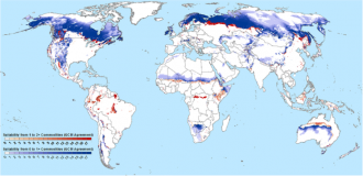 Global climate-driven agricultural frontiers for RCP8.5 2060–2080