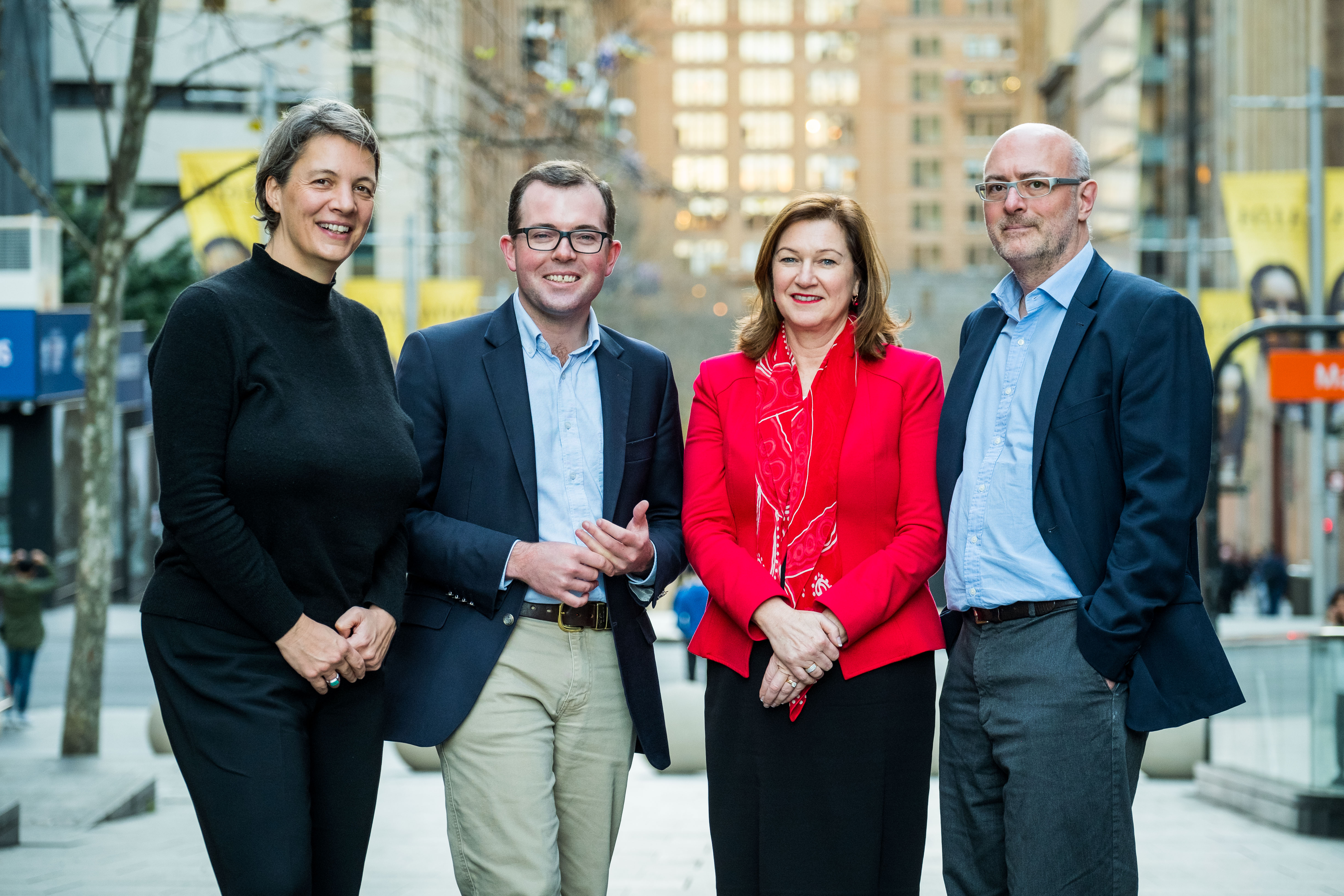 Image courtesy of Business Events Sydney. (L-R) Scientia Professor Michelle Simmons, The Hon. Minister Adam Marshall MP, Lyn Lewis-Smith, Scientia Professor Sven Rogge.