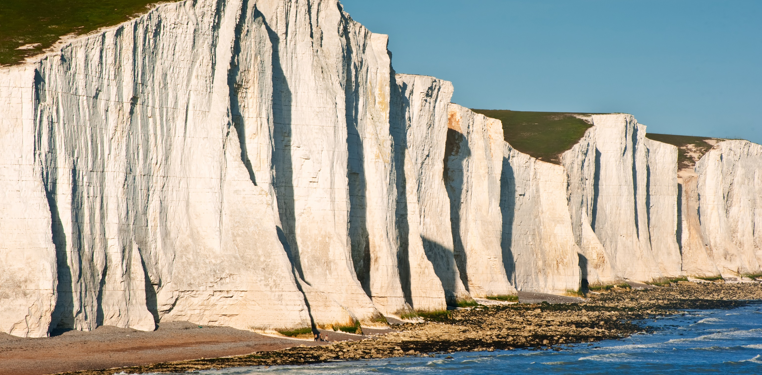 White cliffs like these on the south coast of England, are, in part, the result of millions of years of 'marine snow' accumulation, forming carbon sinks.