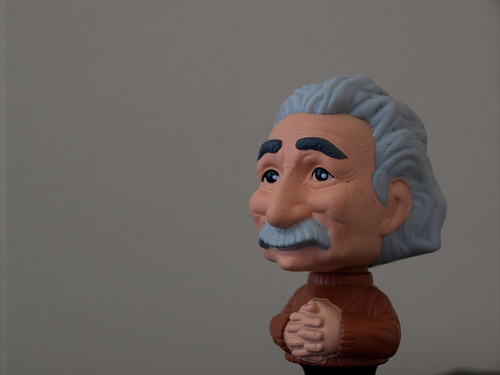 Einstein, credit Brad Montgomery, Flickr