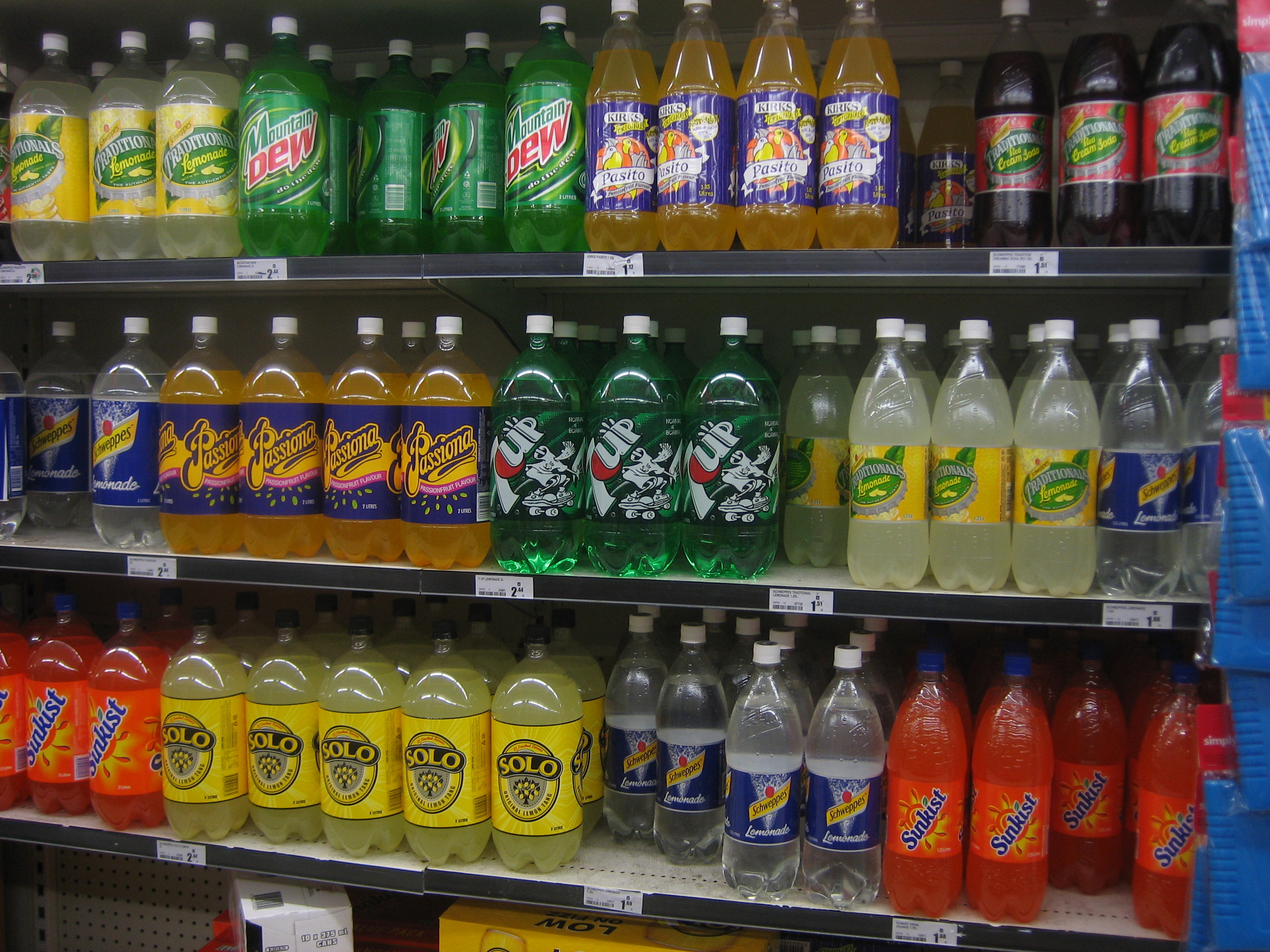 Soft_drink_shelf By SMC at English Wikipedia