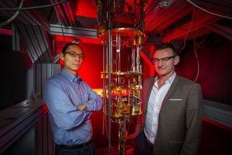 Dr Henry Yang and Professor Andrew Dzurak