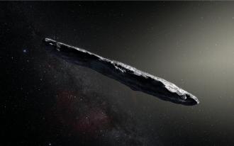 Artist's impression of  `Oumuamua